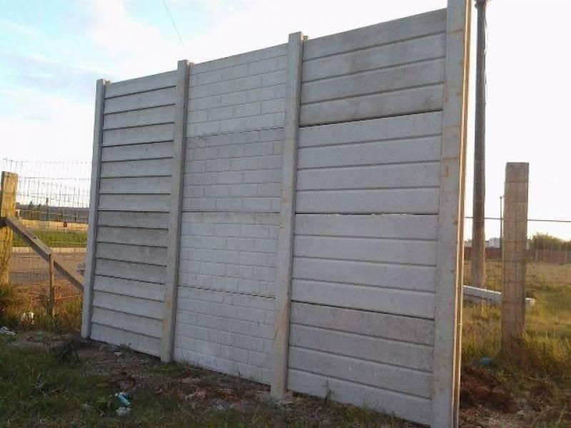 Muro Pré Moldado de Concreto Cidade Tiradentes - Pré Moldados de Concreto