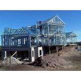 estrutura metálica para casas preço Campo Limpo
