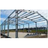 estrutura metálica para garagem industrial preço Glicério