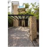 estrutura metálica para garagem Residencial Seis