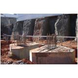 fundação para blocos de concreto Jardim Santa Terezinha